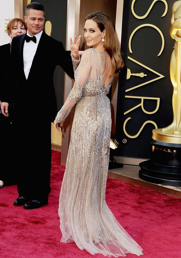 Angelina Jolie Backless Pictures