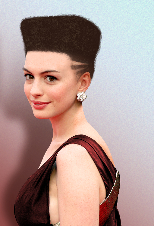 Anne Hathaway Short Hair Pictures