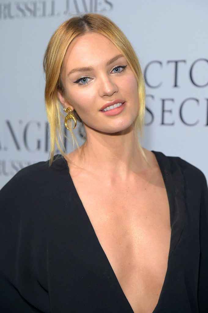 Candice Swanepoel Without Bra Pics
