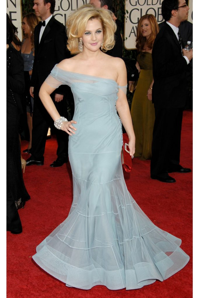 Drew Barrymore In Gown Pics