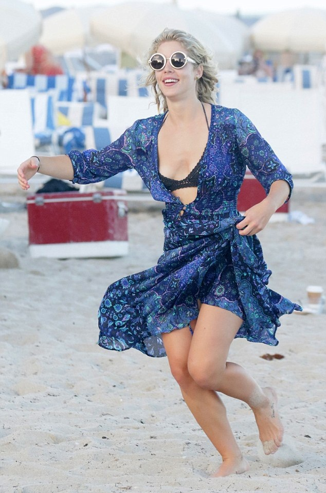 Emily Bett Rickards Beach Photos