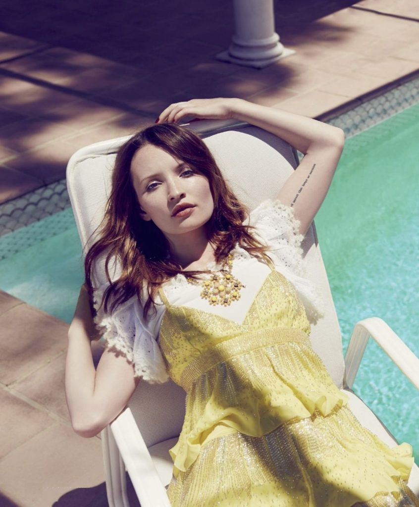 Emily Browning Beach Photos