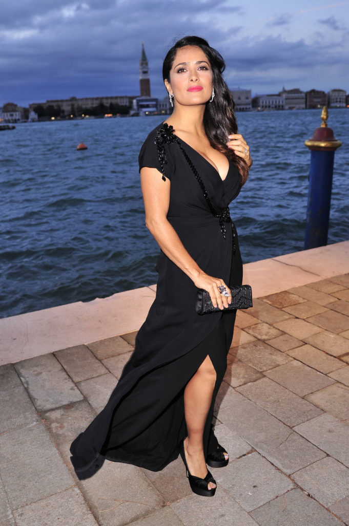 Salma Hayek Beach Photos
