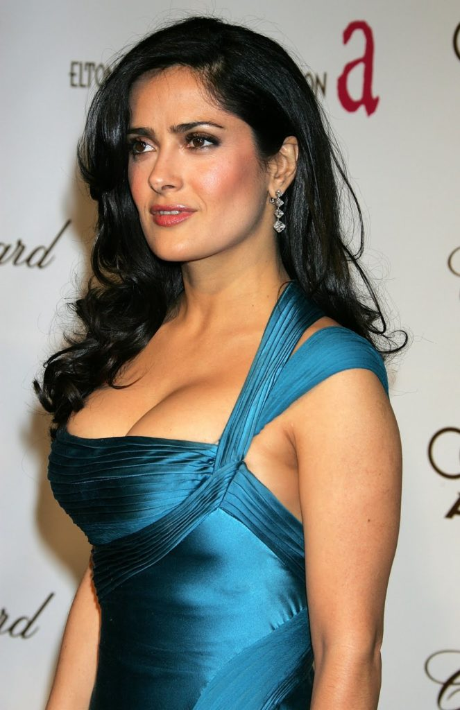 Salma Hayek Braless Photos
