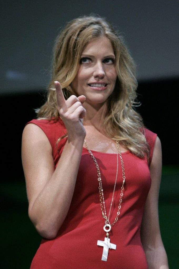 Tricia Helfer Working Out Photos