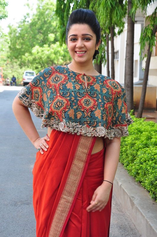 Charmi Kaur Saree Pictures