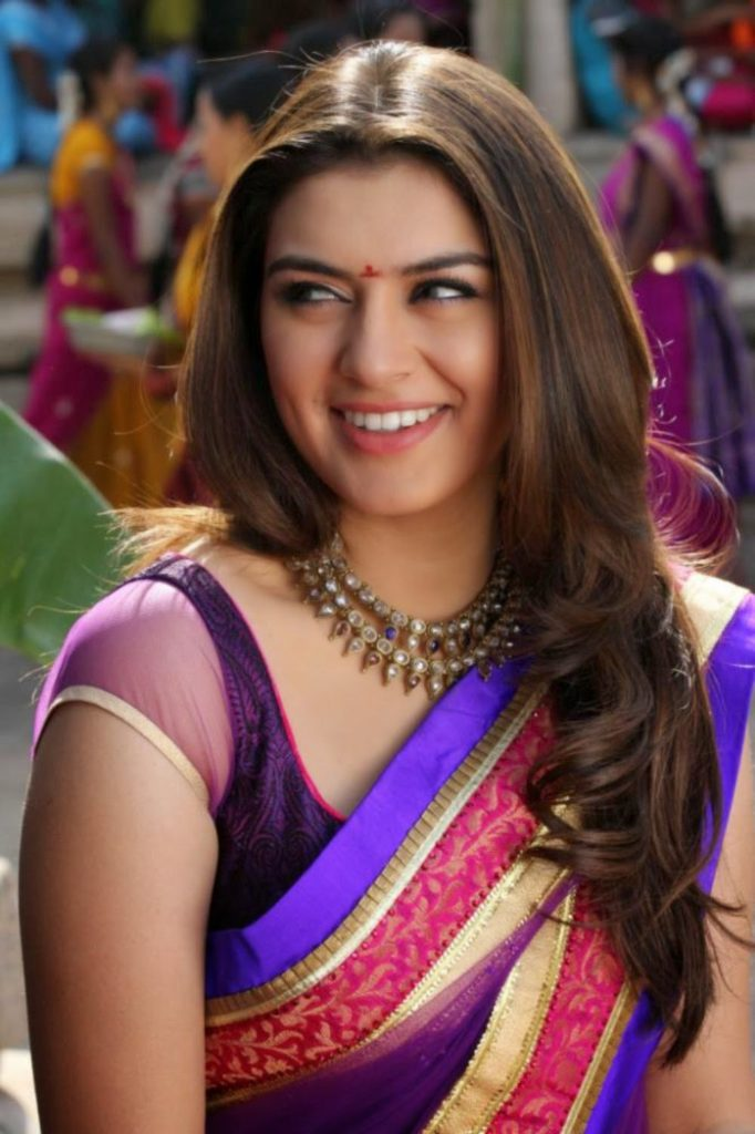 Hansika Motwani Saree Photos