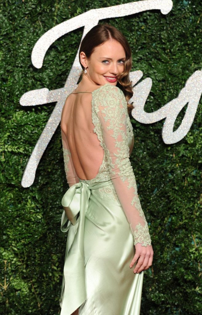Laura Haddock Backless Images