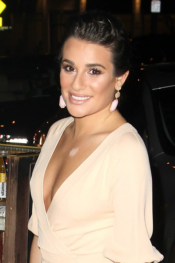 Lea Michele Without Bra Images