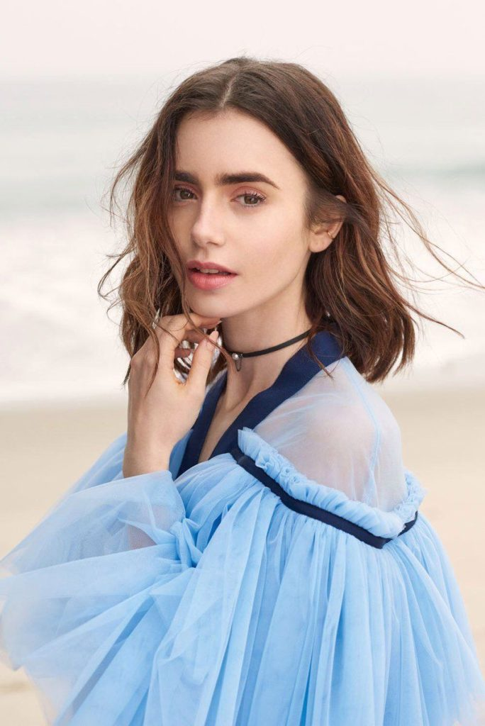 Lily Collins Backless Images