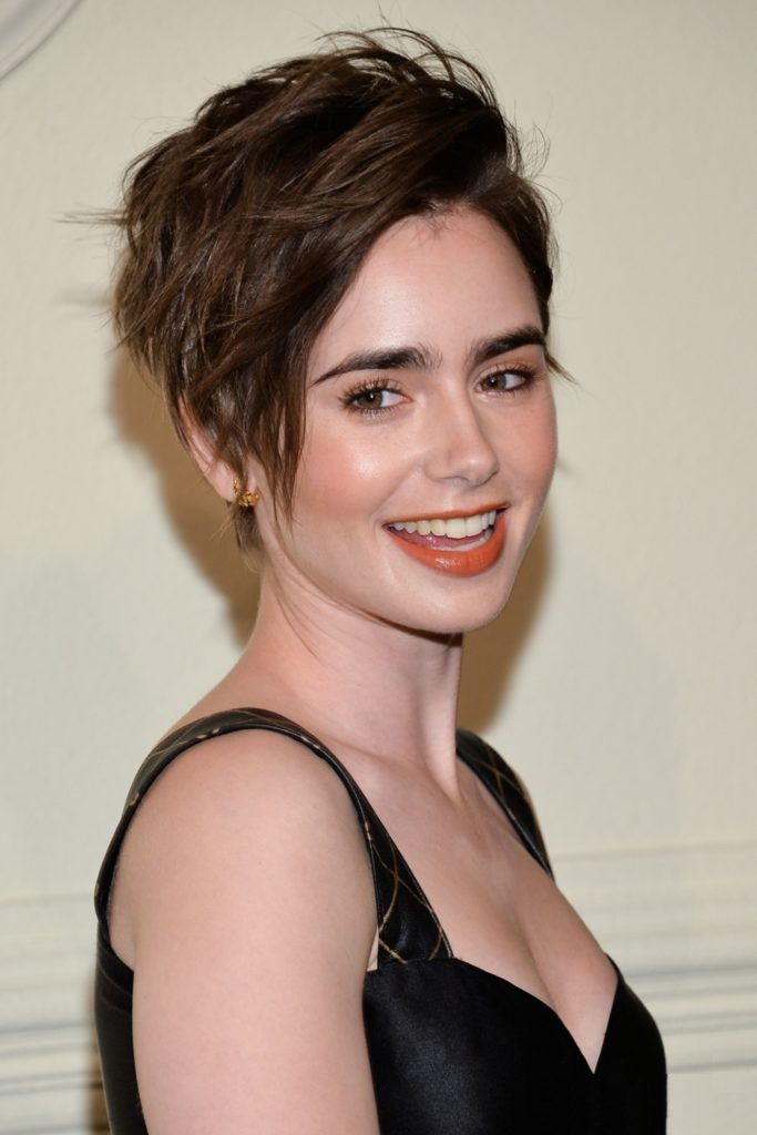 Lily Collins Braless Images