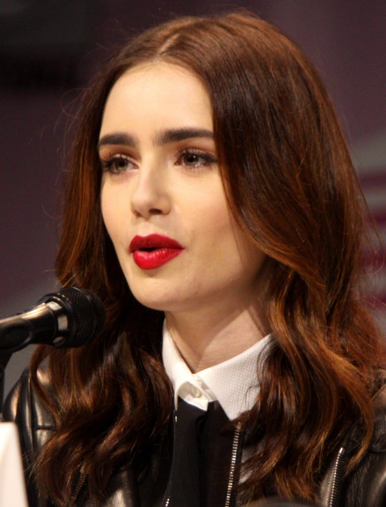 Lily Collins Sexy Lips Images