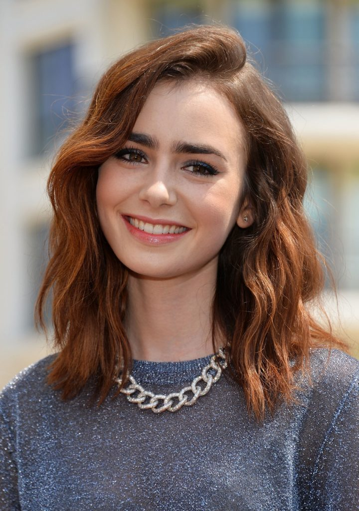 Lily Collins Short Hair Images