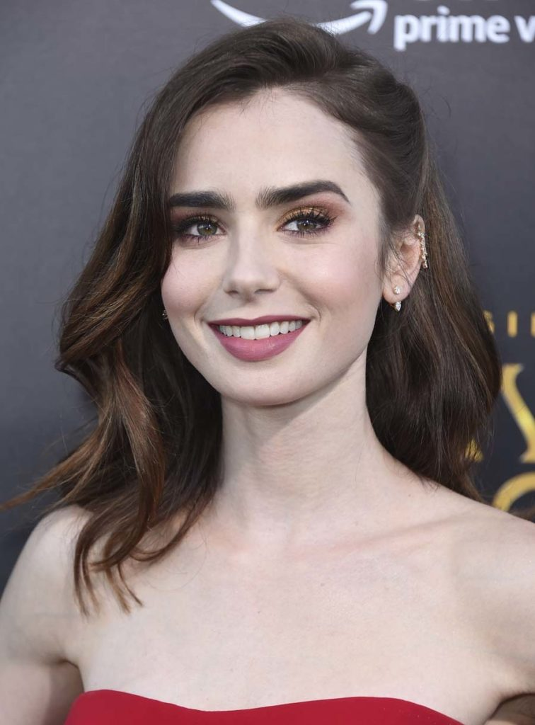 Lily Collins Smiling Images