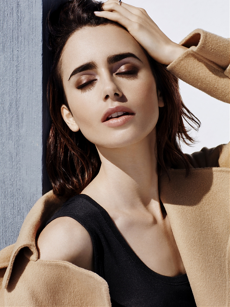 Lily Collins Topless Images