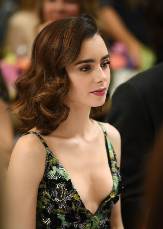 Lily Collins Without Bra Images