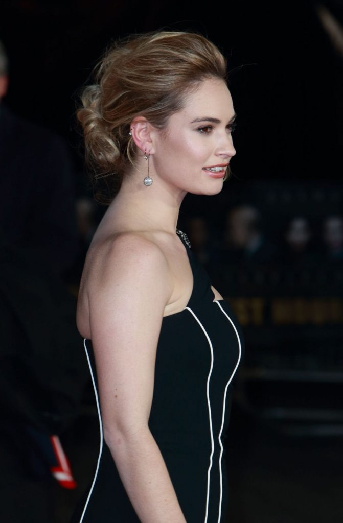 Lily James Backless Images