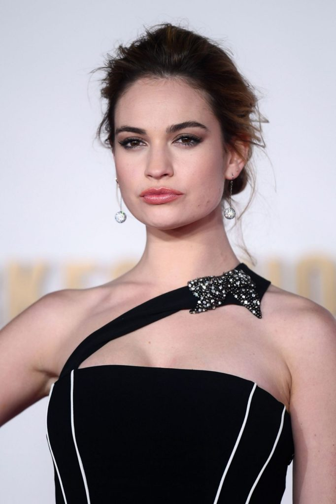 Lily James Bra Cleavage Images