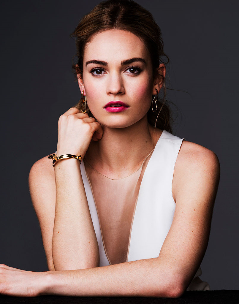 Lily James Braless Images