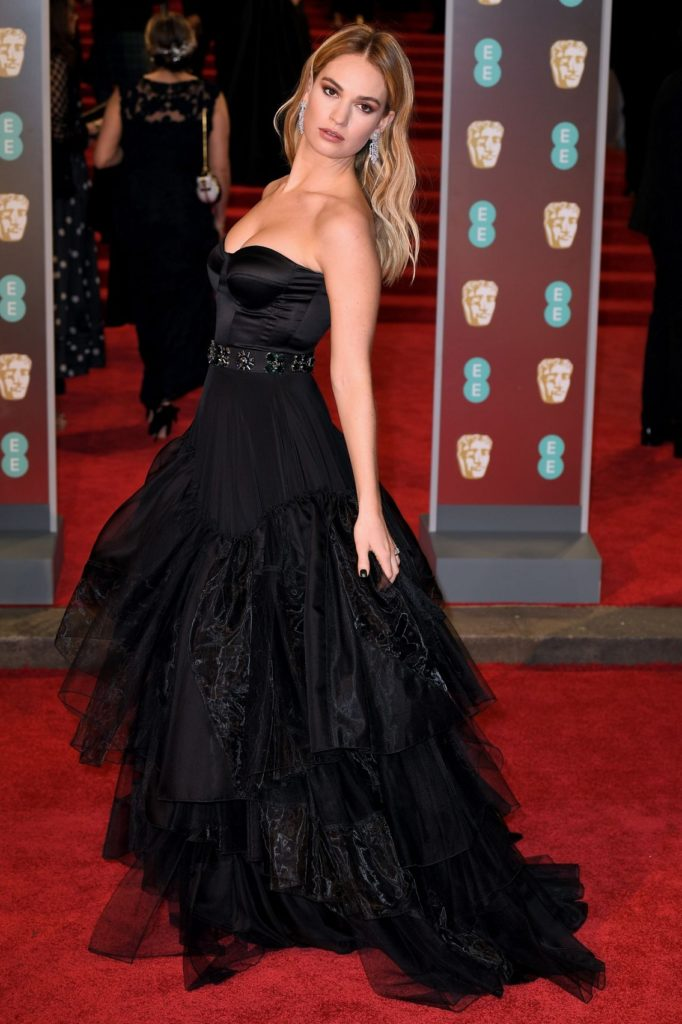 Lily James Gown Images