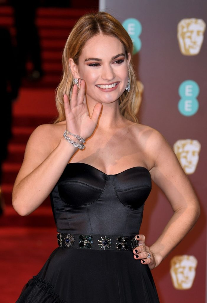 Lily James Smiling Images
