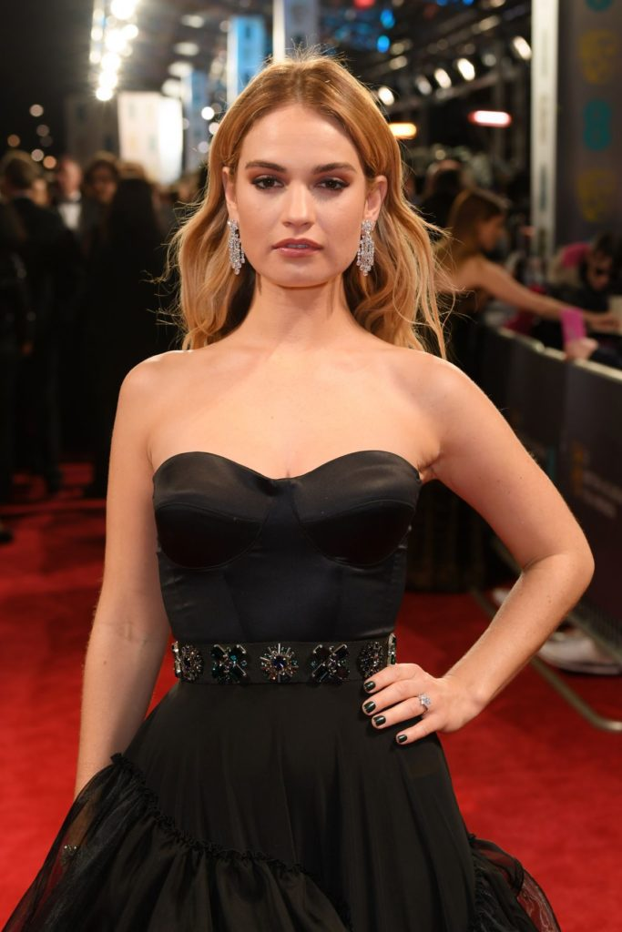 Lily James Topless Images