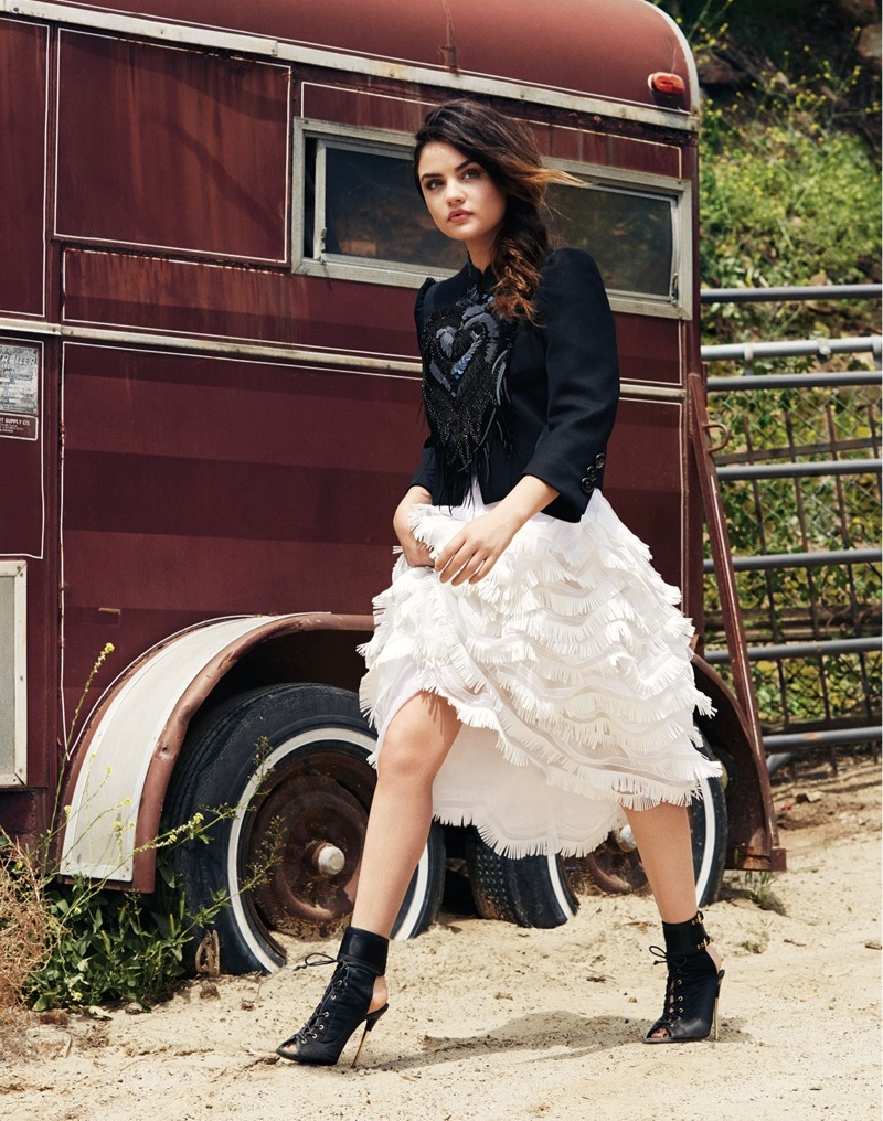Lucy Hale High Heels Images