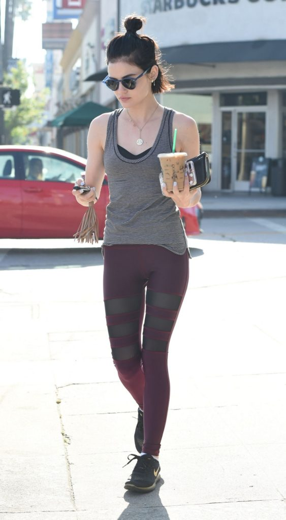 Lucy Hale Leggings Photos