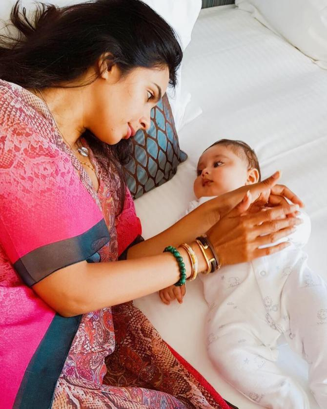 Mallika Sherawat With Baby Pictures