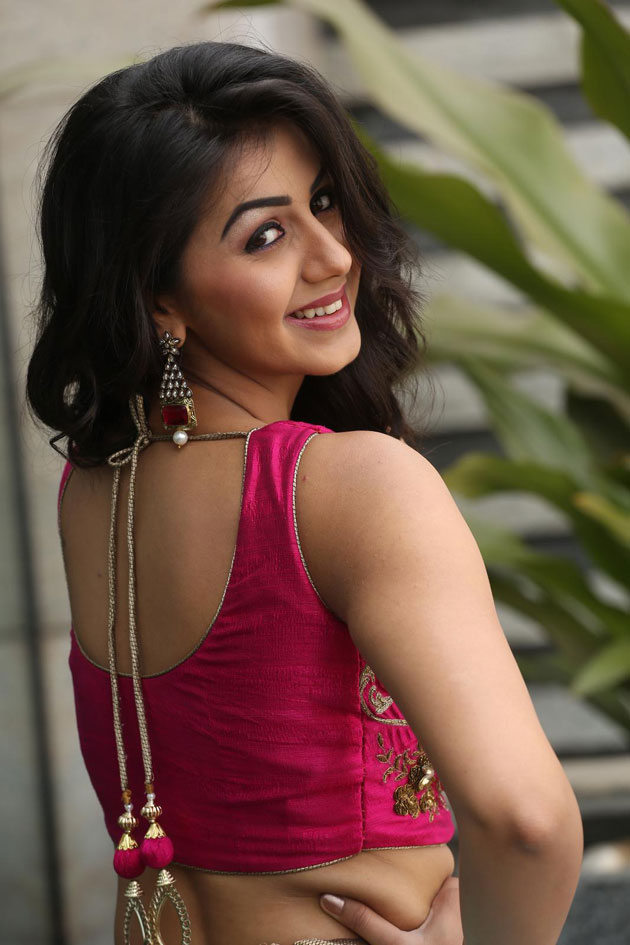 Nikki Galrani Backless Pictures